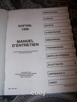 0v Workshop Manual Maintenance Technical Review Harley Davidson Softail 1999