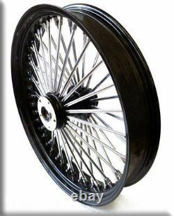 18x3,5 Big King Fat Spoke Black Rim Before 2x Flange Harley Davidson