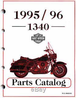 1995 & 1996 Harley-davidson 1340 Models Parts Catalog Manual Softail Flt