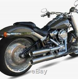 2 Silent Ironhead Harley-davidson Hc1-3s Satine Softail Fat Boy 2019