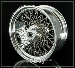 8,5x18 Wheel Spoke Wheel 80 Spokes Harley Davidson Softail Evo New