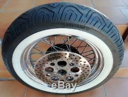 A Wheel Rays Before Complete Tire Sidewall White Harley Davidson Heritage Softail