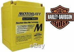 Agm Battery Motobatt Harley-davidson Sportster, Dyna, Softail Y Buell