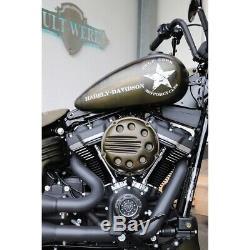 Air Filter Cover Cult Werk Slotted M8 107er Softail Harley Davidson