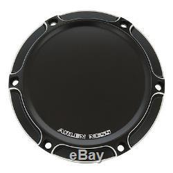 Arlen Ness Beveled Black Harley Dyna Softail Custom Chopper Bobber