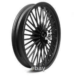 Big Spoke Front Rim 3.5x16 For Harley Softail Custom / Deluxe Black