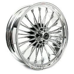 Big Spoke Rims Set 21x3.5-18x5.5 For Harley Softail Deuce / Slim Cr