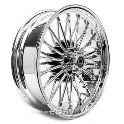 Big Spoke Wheel 3.5x18 Rear For Harley Softail Custom / Deluxe Chrome