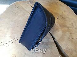 Black Eagle Softail 1981-2019 Harley Davidson Tribel Bag Oscillating Adler Leather
