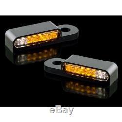 Black Led Blink Custom Harley Davidson Softail 96-14 Motomike 34