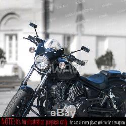 Black Mirror Motorcycle Cnc Convex Cvo Harley-davidson Softail Springer