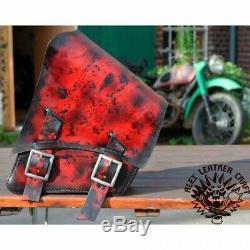 Bobber Chopper Saddlebag Harley Davidson Softail Until '17 Red