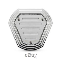 Burly Hex Air Filter, Chrome For Harley-davidson Softail, Dyna Touring 93-17