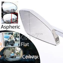 Chromé Motod Mirrors Cleaver Look For Harley-davidson Softail Fat Boy Lo
