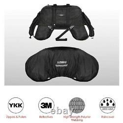 Cl62 Saddle Bag For Harley Davidson Softail Slim / Sport Glide Noir