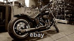 Complete Line Arrow Mohican Black Harley-davidson Softail 1986-1917
