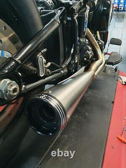 Complete Line Bs Exhaust Racing 2/1 Stainless Satine Harley-davidson Softail