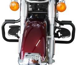 Crankcase For Harley Davidson Softail 2000-2017 Craftride Mustache Black