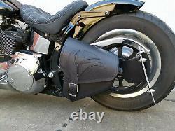 Eagle Black Softail 1981-2019 Harley Davidson Tribel Adler Leather