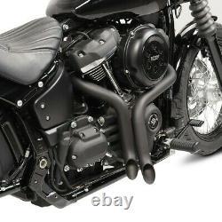 Escape For Harley-davidson Softail 18-21 Drag Pipe Silencer Pot Black