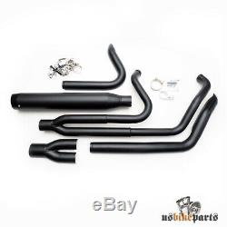 Exhaust Exhaust Pipes Harley-davidson Softail 1985-2016 Black Complete