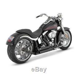 Exhaust Vance & Hines Shortshots Black Harley Davidson Softail 1987-2011