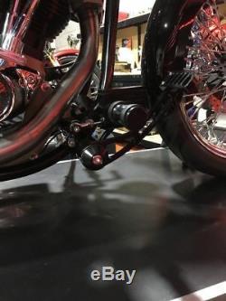 Forward Control Foot Rest Front Pr Harley-davidson Softail 1984 Thru 1999 Black