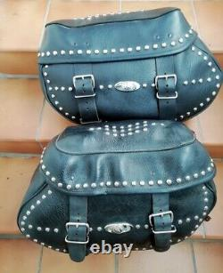 Genuine Harley Davidson Softail Legacy Twin Cam Leather Bags