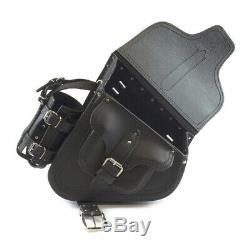 Genuine Leather Saddle Bag Case For Harley Davidson Fatboy Derivation