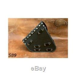 Harley Davidson Black Leather Bag Single Swing Arm Bag Side
