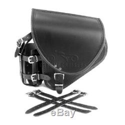 Harley Davidson Black Leather Carrying Case With Side Swing Arm + Silver