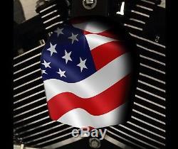 Harley Davidson Custom Horn Touring Cover Dyna Softail Sportster M8 Flag