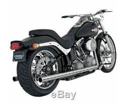 Harley Davidson Fl-fxs-97/11-silent Exhaust Vance Hines Softail Duals Ch