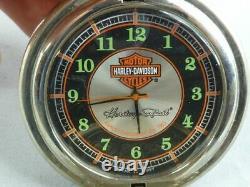 Harley Davidson Watch Shell Franklin Mint Legacy Softail On Eagle Base