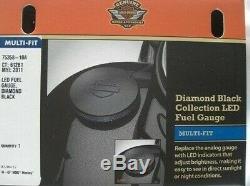 Harley Diamond Black Oem Led Fuel Gauge Softail Dyna Roadking Made Germany