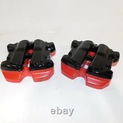 Harley Rocker Covers Touring Boxes M8 Softail Mirror Black / Hd Orange/red