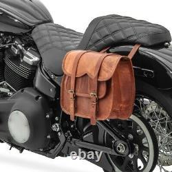 Horsebag For Harley Davidson Softail Slim / Standard Sv1b Brown