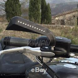 Kiwav Rearview Mirror Ax Black Led Indicator For Harley-davidson Softail Deluxe