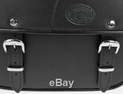 Lateral Kentucky Case For Harley Davidson Softail Custom (fxstc) Black