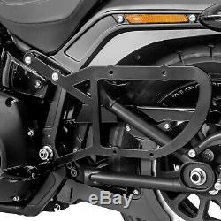 Lateral Pouch And Carrier For Harley Davidson Softail 1988-2017 Laredo 20l