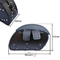 Motorcycle Leather Black Saddlebags Harley Davidson Saddlebag For Fatboy