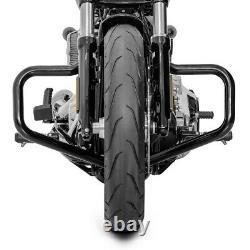 Mustache II Cylinder Pare For Harley-davidson Softail 2000-2017 Black