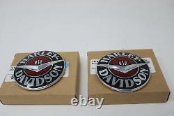Nine Oem Harley Touring Softail Dyna Gas Reservoir Medallions Emblems