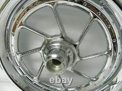 Nos Nine 07 And Latest Harley Softail Flstf Roadwinder Wheel Front 41406-07