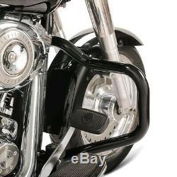 Pare Cylinder Mustache For Harley-davidson Softail 2000-2017 Black