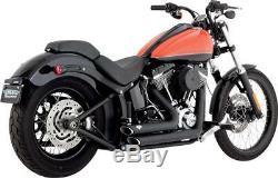 Pot Vance & Hines Shortshots Black Harley 1690 Abs Fat Boy Special 12-14