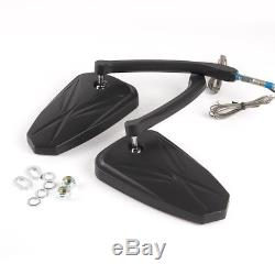 Rearview Mirror Black Led Flashing Arrow Panel For Harley-davidson Softail Deluxe