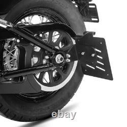 S Side Plate Holder For Harley Davidson Softail 18-20 Black