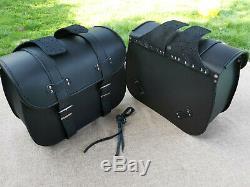 Saddle Bags Motorcycle Apollo Black Harley Davidson Fatboy Softail Heritage