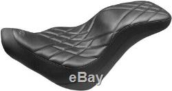 Seat 2-up Daytripper Black Harley Davidson Softail Abs Low Rider Fxlr Mus